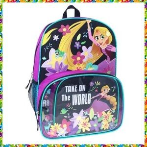 🆕 Disney Rapunzel Tangled Backpack & Lunch Box